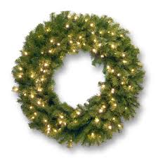 outdoor christmas garland with lights decorations lighted christmas wreath lush pine needles for