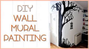 diy view diy wall mural on a budget wonderful in diy wall mural