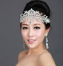 wedding headpiece tiara chain hair jewelry wedding hair accessories