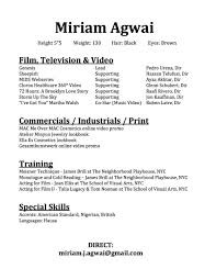 Online Video Resume Resume U2014 Miriam Agwai