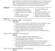 food expeditor resume resume examples for restaurant jobs