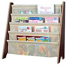 amazon com naomi home kids toy sling book rack cream espresso