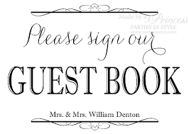 wedding guest book sign sign our guest book wedding reception sign