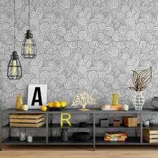 illustrated swirls removable wallpaper cute self adhesive zoom