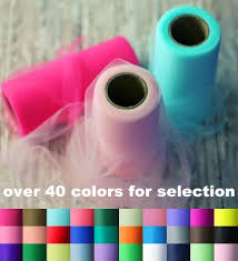 spool of tulle 40 colors tulle roll spool 6 x100yd tutu wedding gift craft