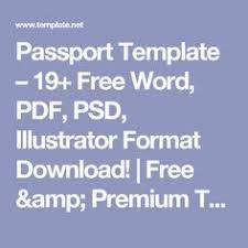template italy passport psd passport psd pinterest