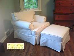 Chair And Ottoman Slipcovers Cozy Cottage Slipcovers May 2014