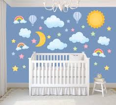 nursery wall decals stars moon home design ideas moon and stars wall decals