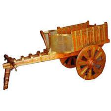 wooden cart show pieces silver wooden cart show