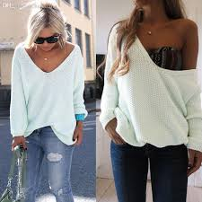 baggy sweaters wholesale womens the shoulder chunky knitted oversized