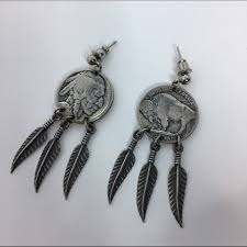 nickel earrings indian buffalo nickel earrings os from celeste women