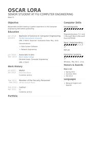 cv for computer engineer waiter resume template waiter resume samples visualcv resume