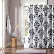 Curtains Printed Designs 37 Intelligent Design Sydney Black Damsk Print Shower Curtain