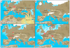 Current Map Of Europe There Was A Massive Population Crash In Europe Over 14 500 Years