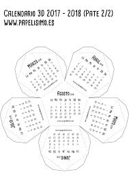 calendario escolar argentina 2017 2018 calendario 3d escolar 2017 2018 para imprimir dodecaedro