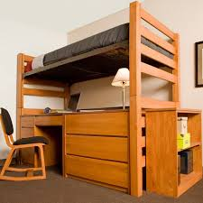 Free Plans For Loft Beds With Desk by University Loft Graduate Series Twin Xl Open Loft Bed Wild Cherry