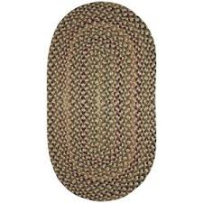 Capel Area Rug Capel Jamerson Green 5 Ft X 8 Ft Braided Oval Area Rug