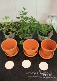 Challenge Plant Pot Diy Decorative Clay Pots With Herbs Decorating Challenge Artsy