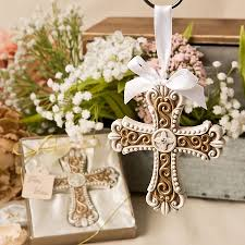 ornament favors vintage cross ornament religious favor