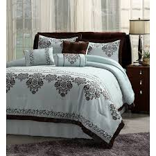 Blue And Brown Bed Sets Chocolate Brown Bedding Shopping Bedding Bath