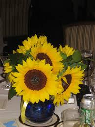 table centerpieces with sunflowers wedding sunflower centerpieces alternate on tables with mason jars
