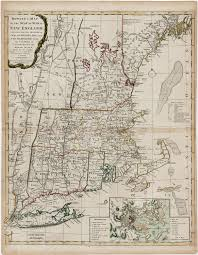 New England Map by Bowles U0027