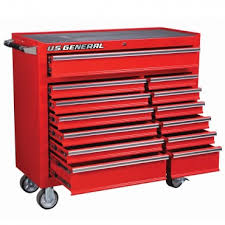 Rolling Tool Chest Work Bench 46 In 9 Drawer Mobile Workbench With Solid Wood Top