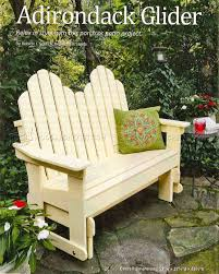 adirondack glider bench plans u2022 woodarchivist