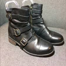 ugg womens finney boots 74 ugg shoes ugg strappy buckle finney moto ankle boot from