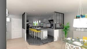 idee deco cuisine ouverte sur salon idée de cuisine ouverte inspirations avec decoration salon avec