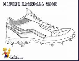 spectacular baseball shoes coloring page with shoes coloring pages