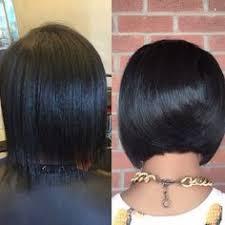 relaxed short bob hairstyle natural hair bob cut and blowout silk press luxe lengths hair