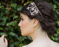 wedding hair bands wedding headband with swarovski crystals and pearls posy jules
