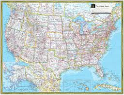United States Wall Map Laminated by United States Atlas Maps