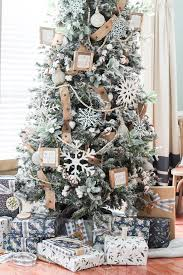 flocked tree flocked farmhouse christmas tree the turquoise home