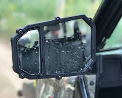Blind Spot Side Mirror Elite Series Utv Side Mirror W Blindspot U0026 Dual Axis Break Away