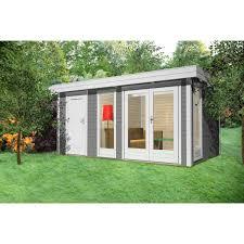 gartenhaus design flachdach gartenhaus design flachdach mit anbau 40 mm nwh celle 40223