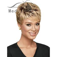 hair products for pixie cut medusa hair products afro pixie cut style short wavy blonde wig