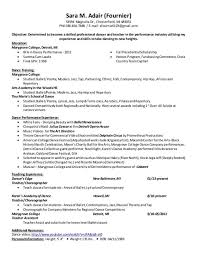 100 dance resume examples high resume student writing niveau