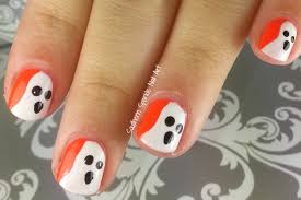 super easy halloween nail art spooky and cute halloween nail art