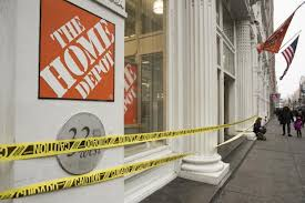 home depot closed crime surrounds the closed home depot