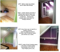 closet renovations tricky cape cod ceilings and our solution