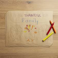 thanksgiving paper placemats crate and barrel