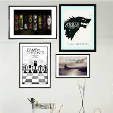 game of thrones vintage canvas art print painting poster wall