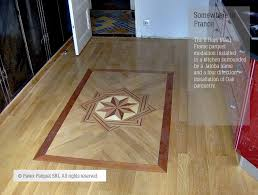 harwood floor medallions in installed hardwood floor