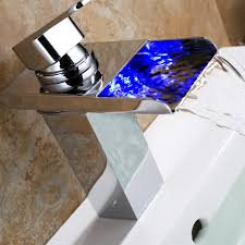 superfaucet waterfall led bathroom sink faucet centerset mixer tap