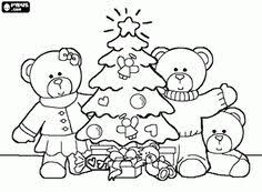 july christmas kids teddy bear color u2013 abcteach u2014 free