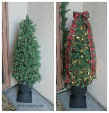 Homemade Christmas Tree by Diy Decorative Topiary Christmas Trees