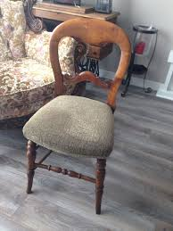 Reupholster Chair Reupholstered Chair With Shrunken Sweater Hometalk