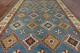 Area Rugs 10 X 14 by Super Kazak Light Blue Handmade Wool Area Rug 10 X 14 P2790